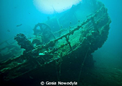 TETI wreck near VIS island. by Gosia Nowodyla 
